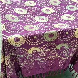 パレオ 更紗 オリエンタル バティック 紫 バリ雑貨 アジアン バリ布 インテリアクロス マルチクロス