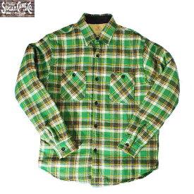 ワークシャツ SUGAR CANE/シュガーケーンツイルチェック長袖CPOシャツS M Lサイズ 2カラー メンズ 【Japan Made Product】【送料無料】【あす楽】