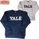 スウェット トレーナー CHESWICK/チェスウィックメイドインUSA セットインスウェットシャツ「YALE」S・M・Lサイズ 2カラー メンズ…