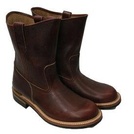 ワークブーツ LONE WOLF BOOTS/ロンウルフブーツ「FARMER/ファーマー」ブラウン 25〜27.5cm 【Japan Made Product】【送料無料】