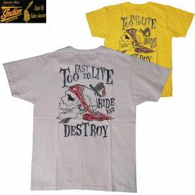半袖Tシャツ INDIAN MOTORCYCLE/インディアンモーターサイクルS/S Tシャツ「RIDE AND DESTROY」2カラー S・M・Lサイズ メンズ【送料無料】【あす楽】