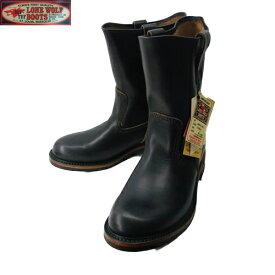 ワークブーツ LONE WOLF BOOTS/ロンウルフブーツ「FARMER/ファーマー」BLACK 25〜27.5cm 【Japan Made Product】【送料無料】