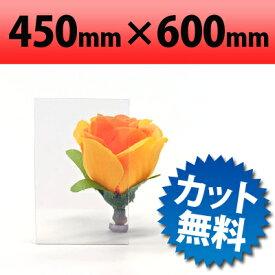 塩ビ板 透明 450×600mm 厚み1mm プラスチック板 クリアー 塩ビシート