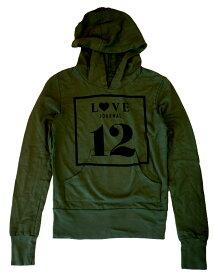 キャメロンハワイ(Cameron Hawaii)Love Journal 12 スウェットパーカー/アーミーグリーン/レディースジャージ【あす楽対応_関東】