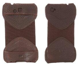 ウィルレザーグッズ(Will Leather goods)レザーiPhone4、4Sケース/本革スマートフォンカバー(ブラック&ブラウン)【あす楽対応_関東】