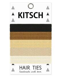 メール便送料無料/Kitsch(キッチュ)Basics ベーシックカラーヘアアクセサリー5本セット/ヘアゴム/ブレスレット/Hair Ties【あす楽対応_関東】