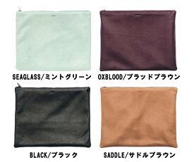BAGGU(バグゥ)本革レザークラッチバッグ/ラージフラットポーチ/Large Flat Pouch/バグー【あす楽対応_関東】