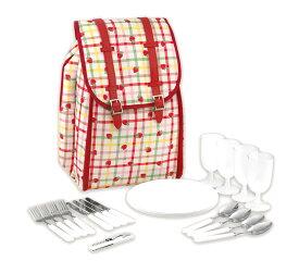キャスキッドソン(Cath Kidston)ピクニックバックパック ピクニックセット リュック おうちキャンプ ストロベリーギンガム Picnic Backpack【あす楽対応_関東】