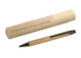 【新モデル】パリ限定!LOUIS VUITTON/ルイヴィトン美術館/ウッドボールペン/ペンケース付き/FONDATION LOUIS VUITTON