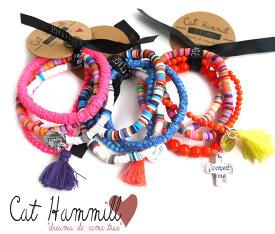 キャットハミル(Cat Hammill)ブレスレットセット/タッセル×ラバービーズミックス/ネオンピンク、オレンジ、ブルー【あす楽対応_関東】