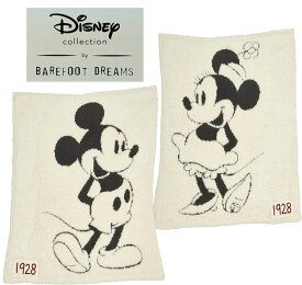 ベアフットドリームス×ディズニーコラボ ミッキーマウス、ミニーマウス ベビーブランケット/Barefoot Dreams/Disney Classic Mickey Mouse & Minnie Mouse Baby Blanket【あす楽対応_関東】