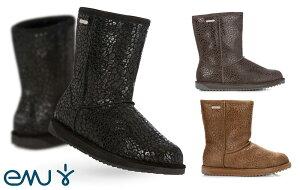 EMU(エミュー)完全防水レオパード柄ムートンブーツ/Paterson Leopard Boots/雨、雪にも対応できるシープスキンレインブーツ【あす楽対応_関東】