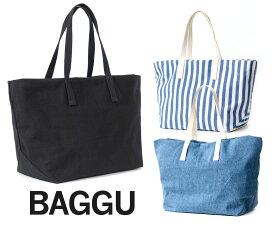 BAGGU(バグゥ)トートバッグ/ウイークエンドバッグ3/Weekend Bag3/ブラック、ストライプ、デニム/旅行バッグ/スタイリストバッグ【あす楽対応_関東】