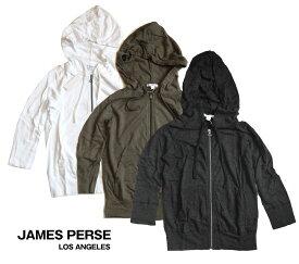 JAMES PERSE(ジェームス パース)レディースジップパーカー/七分袖フーディー【あす楽対応_関東】