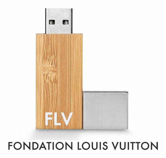 パリ限定!LOUIS VUITTON/ルイヴィトン美術館/USBメモリ8GB/USBフラッシュ/FONDATION LOUIS VUITTON