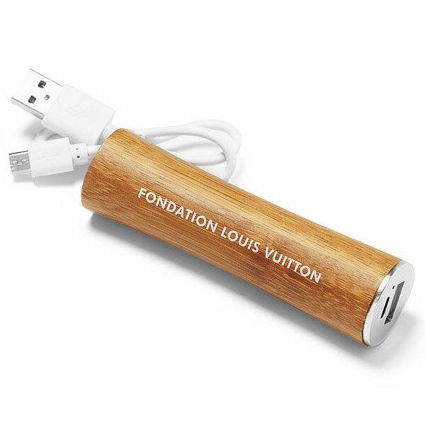 パリ限定!LOUIS VUITTON/ルイヴィトン美術館/スマホ充電モバイルバッテリー/iPhone携帯充電器/2600mAh/ケーブル付き/powerbank