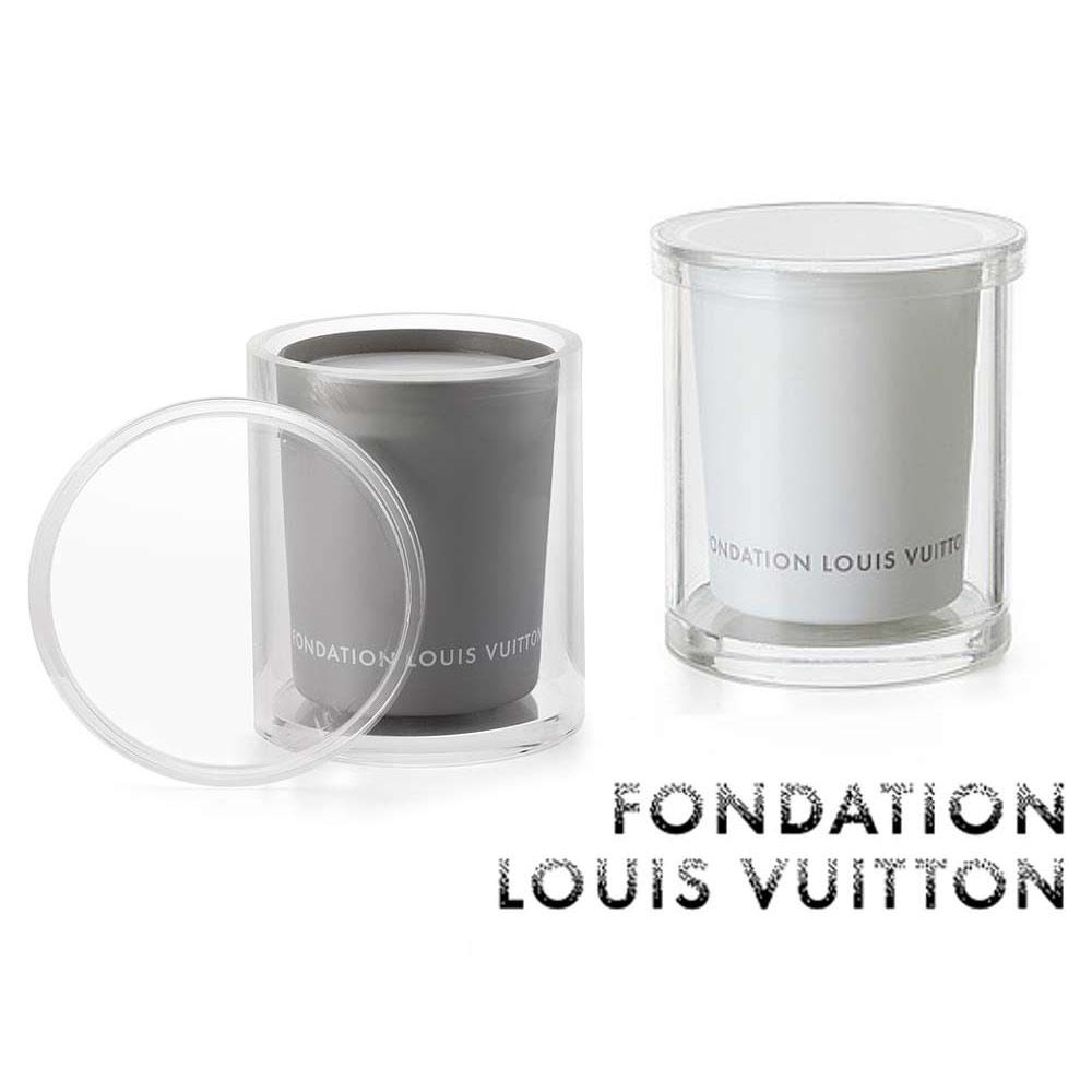 パリ限定!LOUIS VUITTON/ルイヴィトン美術館/アロマキャンドル/ホルダー&ケース付き/フリージア&イチジク