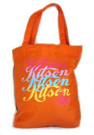KITSON(キットソン)ロゴトートバッグ(オレンジ) 【あす楽対応_関東】