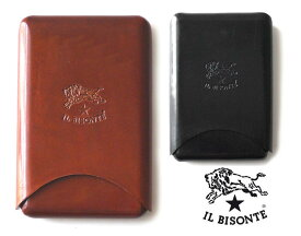 イルビゾンテ(Il Bisonte)レザー名刺入れ パスケース カードケース 定期入れ/C0588【あす楽対応_関東】