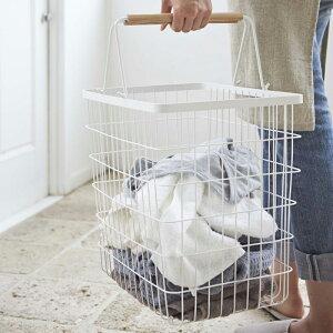 ランドリーバスケット tosca Lサイズ 送料無料ランドリーボックス ワイヤーバスケット ランドリー収納 ランドリーバッグ 洗濯かご 洗濯物入れ スリム 洗濯 かご カゴ おしゃれ おすすめ 北欧
