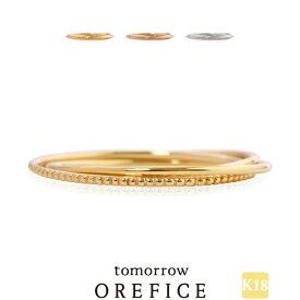 K18 「トリプレット」リング Orefice オレフィーチェ