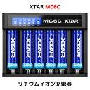 XTAR エクスター MC6C 14500 18650 対応 リチウムイオン 充電器 充電情報表示機能 ディスプレイ付き 6スロット 過放電解除 バッテリーチャージャー 高速 急速 USB充電器 充電池 マルチサイズ対応 Li-ion 送料無料