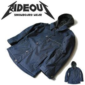 ◆。送料無料。◆rideout(ライドアウト) 12-13モデル brave jacket / ブレイブジャケット / RSW2711デニム生地◆スキー スノボ用 ユニセックス(男女兼用) ジャケット