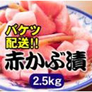 【(有)あべ農園 山形セレクション認定農家】 赤かぶ 2.5kg バケツ入り 材料は赤かぶ、酢、砂糖、塩のみ