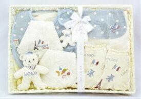 【BE CERA(ビセラ)LOLOetCOCO】出産お祝いセット(メローブルー)《出産祝い/ギフトセット/オーガニック/ベビー/日本製》