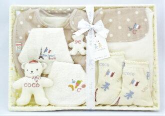 【BECERA(ビセラ)LOLOetCOCO】出産お祝いセットL(メローブルー)《出産祝い/ギフトセット/オーガニック/ベビー》