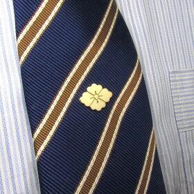 K18YGゴールドの家紋ピンバッジ