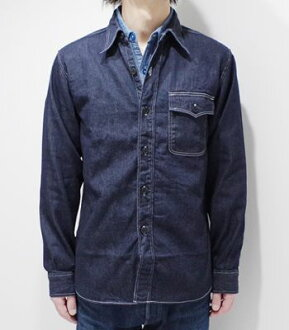 "SUGAR CANE FICTION ROMANCE shugakendenimu CPO衬衫""8oz.DENIM C.P.O.SHIRT""SC27222(Long sleeve shirt)"