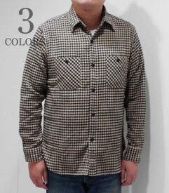 SUGAR CANE シュガーケーン 長袖|ツイル|ネルシャツ『TWILL CHECK WORK SHIRT』【アメカジ・ワーク】SC28229(Long sleeve shirt)