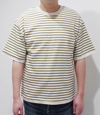BARNS バーンズ 半袖|マルチボーダー|Tシャツ『MULTI BOADER RESORT SST』【アメカジ・カレッジ】BR-7840(Short sleeve tee)