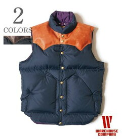 WAREHOUSE×Rocky Mountain レザーヨーク|ナイロンダウンベスト『NYLON DOWN VEST』【アメカジ・ワーク】2121(DOWN Vest & Jacket)