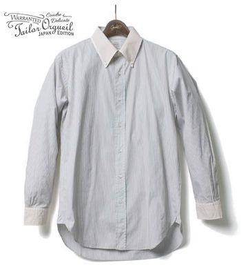 ORGUEIL オルゲイユ 長袖|ストライプ|クレリック|ボタンダウンシャツ『Stripe Button Down Shirt』【アメカジ・ワーク】OR-5026B(Long sleeve shirt)
