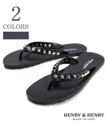 HENRY & HENRY Made in ITALY ラバービーチサンダル フリッパー『FLIPPER PYRAMID』【アメカジ・サンダル】42052(Sandal)