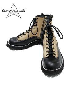 SLOW WEAR LION スローウエアライオン ダブルステッチダウン|クロムエクセル|カリコスエード|ブーツ『CHROMEXCEL 6INCH LACE BOOTS』【ブーツ・アメカジ】OB-8223HK(Boots)