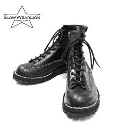 SLOW WEAR LION スローウエアライオン ダブルステッチダウン|クロムエクセル|ブルハイド|ブーツ『CHROMEXCEL 6INCH LACE BOOTS』【ブーツ・アメカジ】OB-8223HK-BULL(Boots)