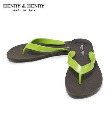 HENRY & HENRY Made in ITALY ラバービーチサンダル フリッパー レディースサイズ『FLIPPER Bi Color』【アメカジ・サンダル】42030(Sandal)