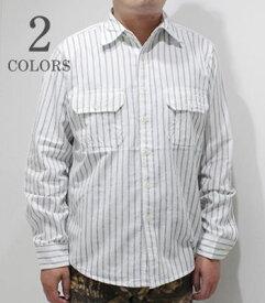 CAMCO カムコ 長袖|クラシックヤーン|シャンブレー|ワークシャツ『RAILROAD STRIPE WORK SHIRT』【アメカジ・ワーク】CST-001