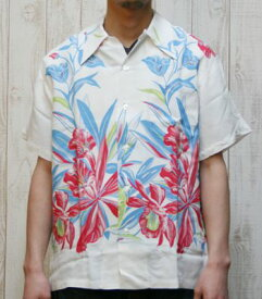 SUN SURF サンサーフ Special Edition DUKE KAHANAMOKU '14 MODEL『ORCHID AND PINEAPPLE』【洋柄・アロハ】DK36651(Aloha)