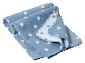 オーガニックコットン キッズ用綿毛布 PunkteStahlblauh (ブランケット 出産祝い 出産準備 プレゼント ギフト ひざ掛け 新生児 ベビー寝具)
