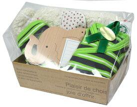 オーガニックコットン 詰め合わせ 出産祝いギフト ゾウ(赤ちゃん 誕生日 プレゼント お祝い 出産祝 男の子 服 セット)