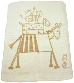 オーガニック 綿毛布 ベビー Bremerzimit(ブレーマーブラウン) (出産祝い 出産準備 プレゼント ひざ掛け 新生児 ベビー用毛布 ベビー寝具)