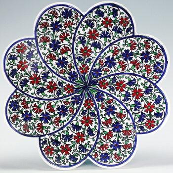トルコ|トルコタイル|トルコ陶器|トルコ雑貨|鍋敷き|なべしき|鍋しき|鍋布き|トリベット Trivet|花型タイル【大】70