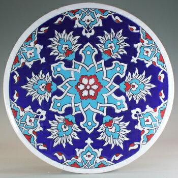 トルコ|トルコタイル|トルコ陶器|トルコ雑貨|鍋敷き|なべしき|鍋しき|鍋布き|トリベット Trivet|丸タイル【大】71