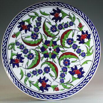 トルコ|トルコタイル|トルコ陶器|トルコ雑貨|鍋敷き|なべしき|鍋しき|鍋布き|トリベット Trivet|丸タイル【大】41