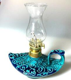 Aladdin|魔法のランプ|空飛ぶ絨毯|アラジン|トルコ|トルコ土産|トルコみやげ|トルコお土産|トルコおみやげ|トルコ雑貨|キャンドルホルダー|香炉|トルコ手描陶器アラジンランプ01