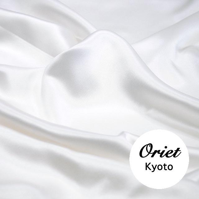 シルク サテン ハイグレード ホワイト 30匁☆シルク 白/シルク100%/ドレス生地/絹 生地【結婚式・ウェディング】【ドレスやワンピースの生地に!】